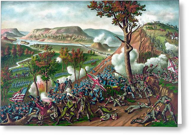 Confederate Greeting Cards - Battle of Missionary Ridge Greeting Card by War Is Hell Store
