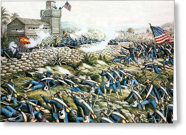 Battle Of San Juan Hill, 1898 Greeting Card by Science Source
