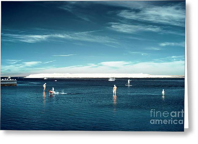 Beach Haven Blues Greeting Card by John Rizzuto