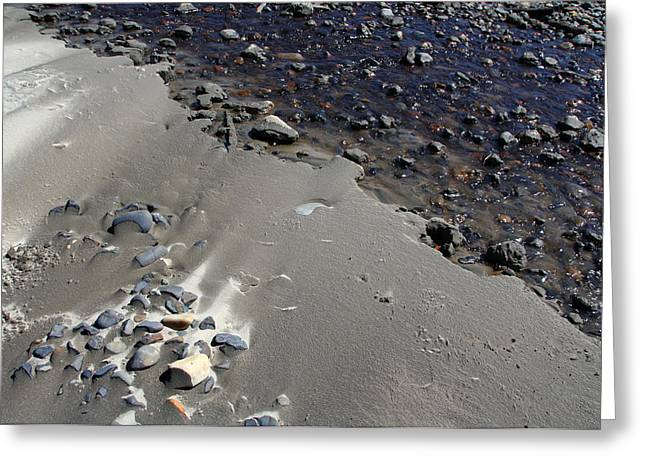 Greeting Card featuring the photograph Beach Rocks 3 by Joanne Coyle