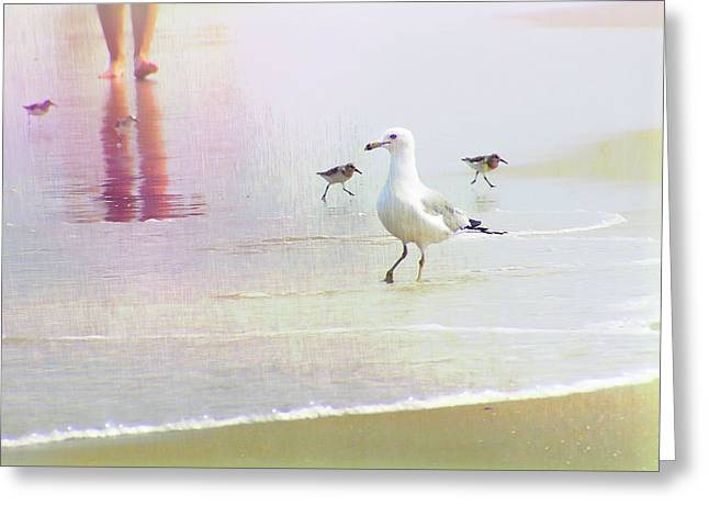 Beach Walk Greeting Card by JAMART Photography