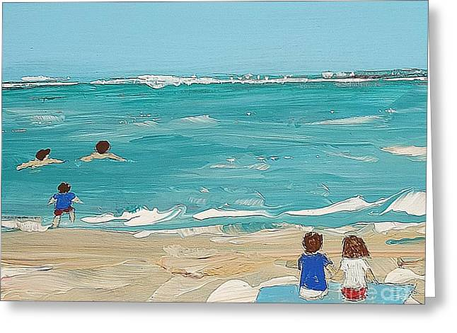 Beach9 Greeting Card by Diana Bursztein