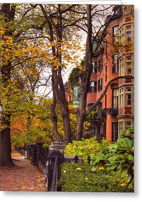 Beacon Hill Greeting Card by Joann Vitali
