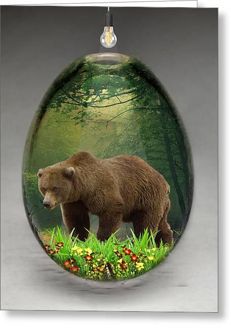 Bear Art Greeting Card