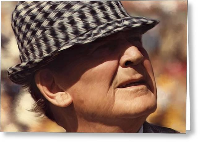 Bear Bryant Alabama Football Head Coach 01 Greeting Card