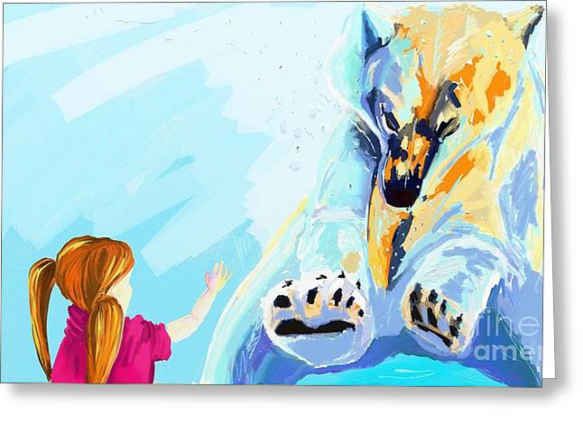 Bear Greeting Card by Lidija Ivanek - SiLa