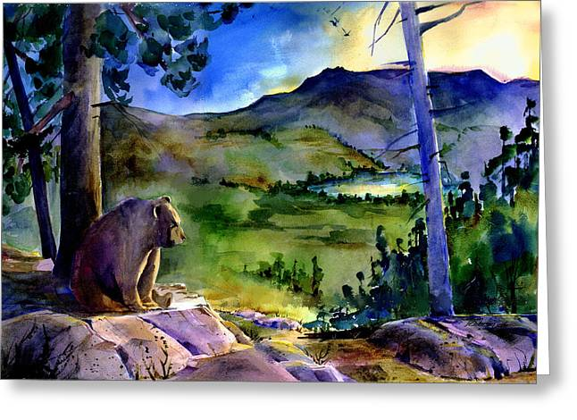 Bearly Light At Castle Peak Greeting Card