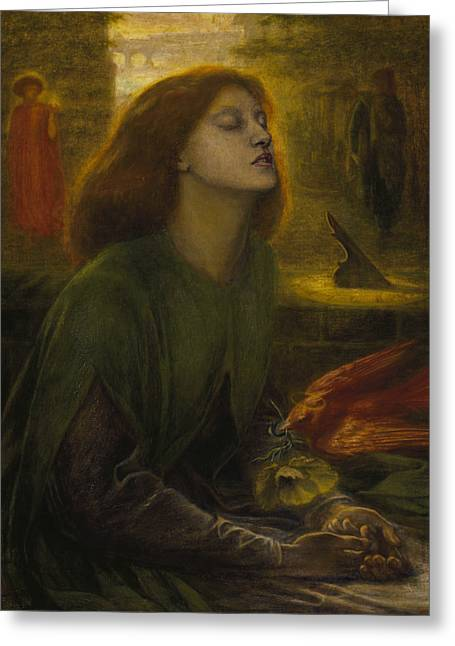 Beata Beatrix Greeting Card by Dante Gabriel Rossetti