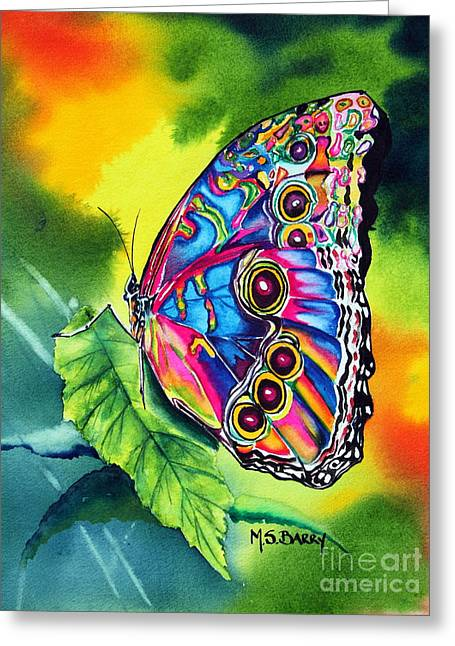 Beatrice Butterfly Greeting Card by Maria Barry