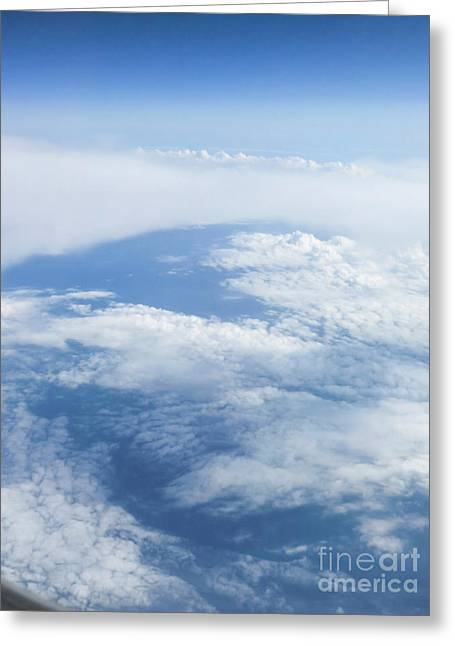 Beautiful Cloudscape On A Blue Sky  Greeting Card by Ami Siano