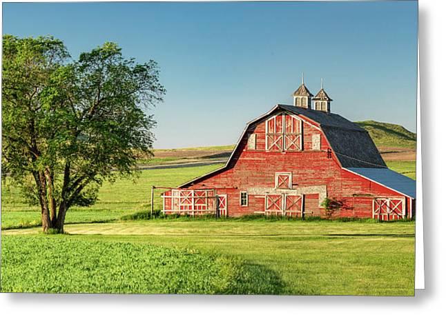 Beautiful Rural Morning Greeting Card by Todd Klassy