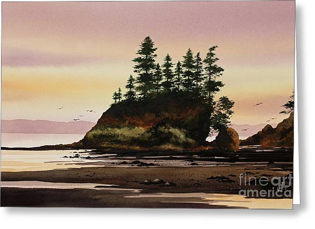 Greeting Card featuring the painting Beautiful Shore by James Williamson