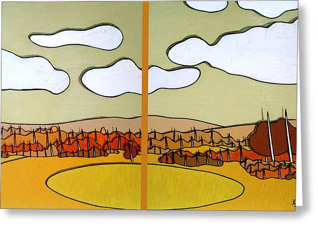 Beautiful Yellow Day Greeting Card by Jason Charles Allen