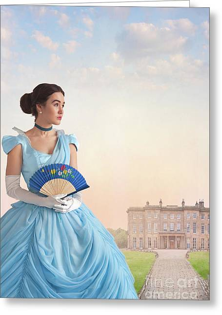 Beautiful Young Victorian Woman Greeting Card by Lee Avison