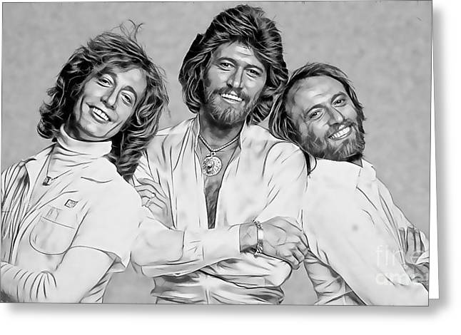 Bee Gees Collection Greeting Card by Marvin Blaine