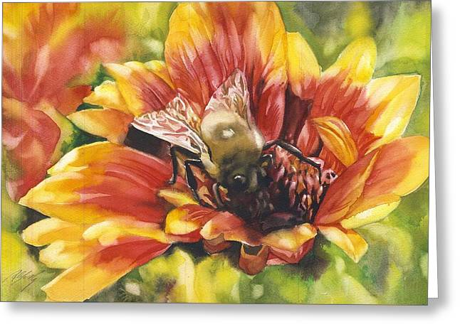 Bee In A Blanket Greeting Card