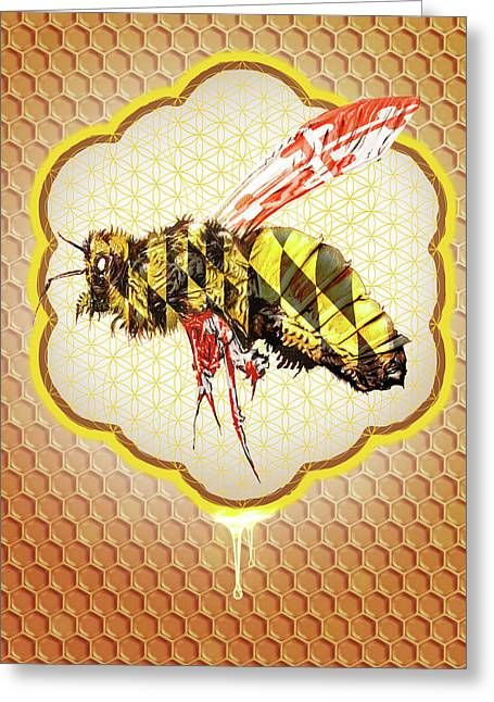 Beemore Greeting Card by Will Shanklin