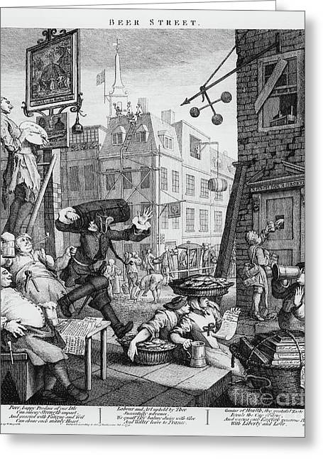 Beer Street Greeting Card by William Hogarth