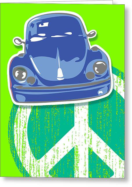Beetle Peace Greeting Card by Alan Hogan