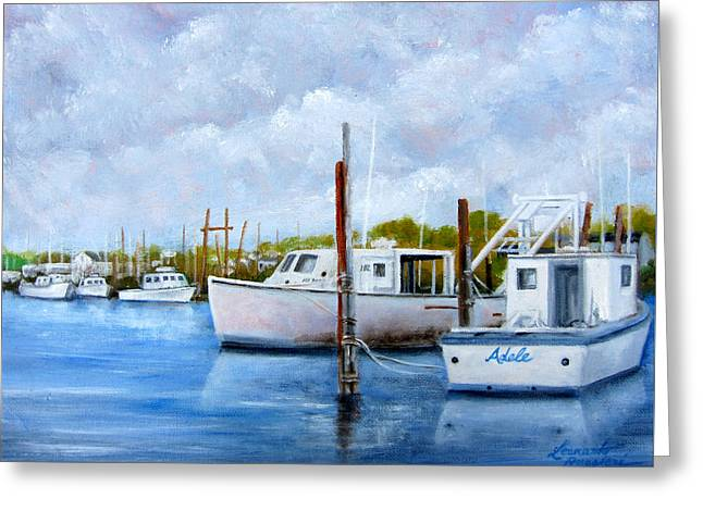 Belford Nj Fishing Port Greeting Card by Leonardo Ruggieri