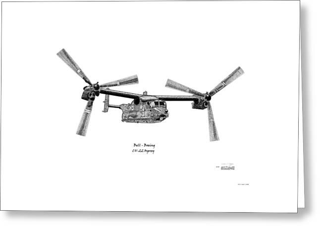 Bell Boeing Cv-22b Osprey Greeting Card by Arthur Eggers