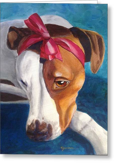 Bella Greeting Card by Marilyn Jacobson