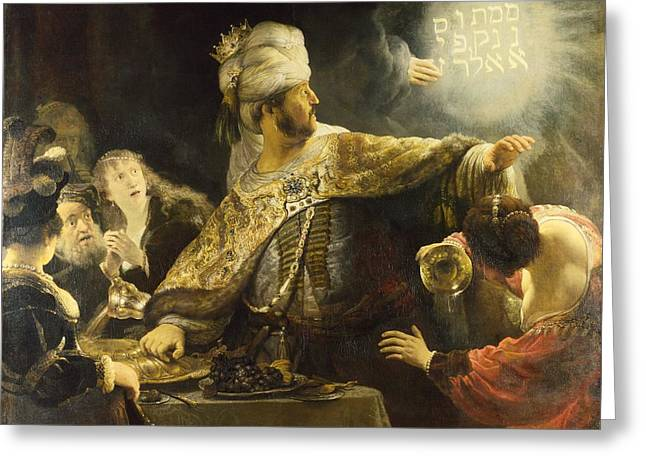 Belshazzar's Feast Greeting Card by Rembrandt