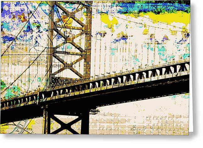 Ben Franklin Bridge Philadelphia Greeting Card by Brandi Fitzgerald