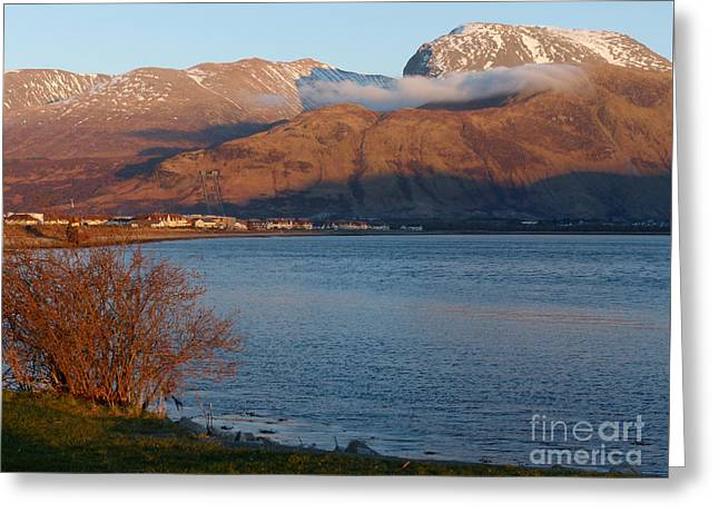 Ben Nevis From Corpach Greeting Card by Phil Banks