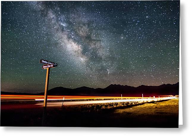 Benton Crossing And Owens River Rd. Greeting Card by Cat Connor