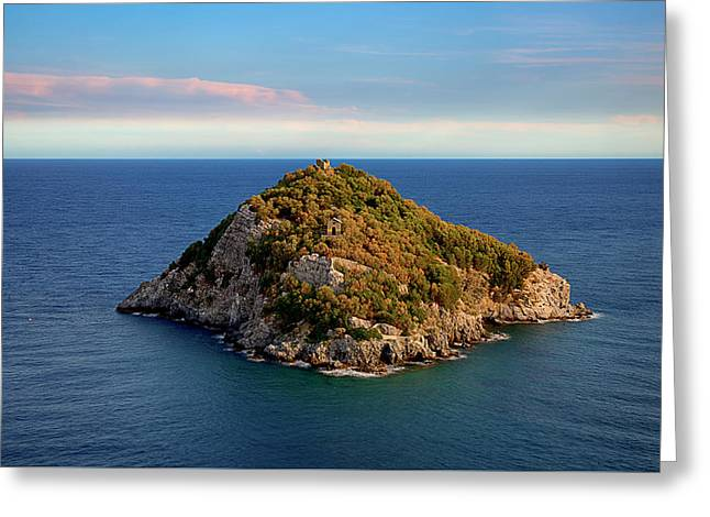 Greeting Card featuring the photograph Bergeggi Island by Enrico Pelos