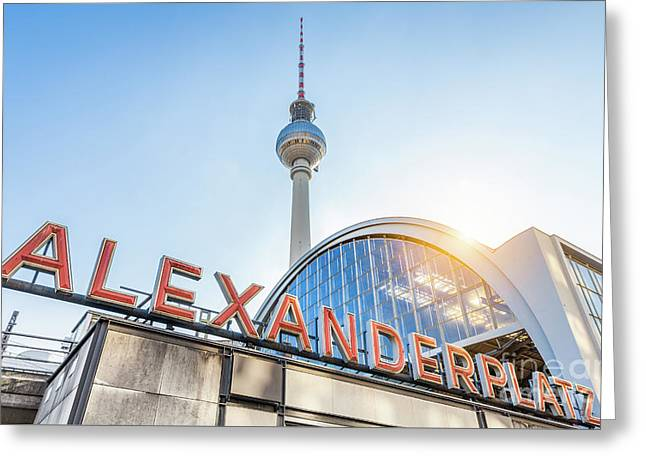 Berlin Alexanderplatz Greeting Card by JR Photography