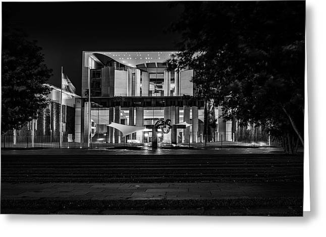 Berlin At Night - Chancellery - Kanzleramt Greeting Card