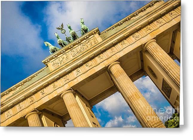 Berlin Brandenburg Gate Greeting Card by JR Photography