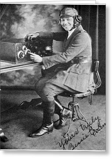 Equality Greeting Cards - Bessie Coleman, Us Aviation Pioneer Greeting Card by Schomburg Centernew York Public Library