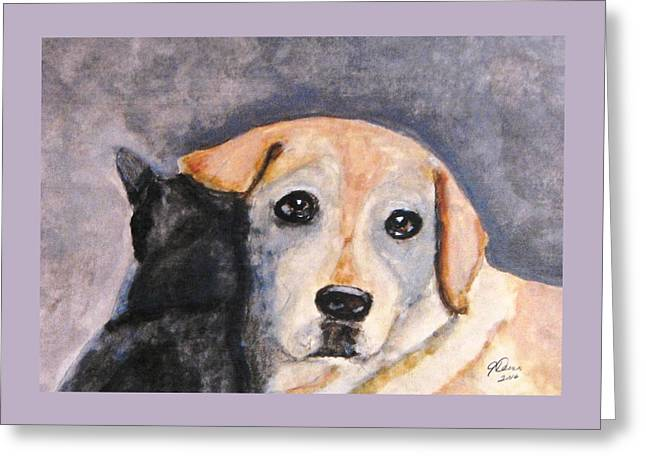 Best Friends Greeting Card by Angela Davies