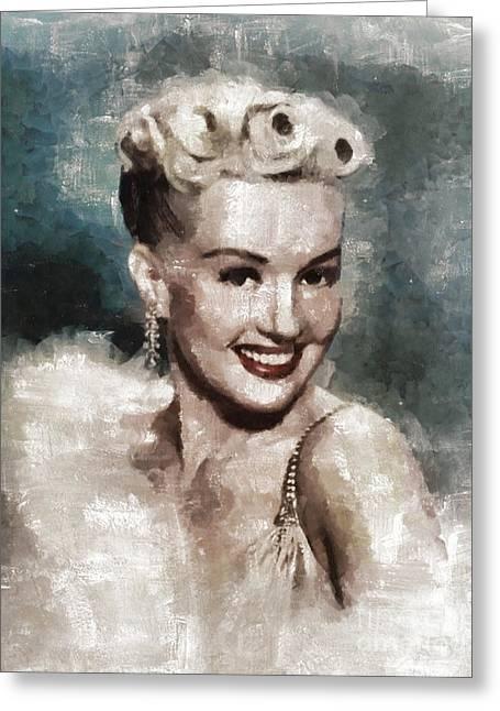 Betty Grable Vintage Hollywood Pinup Greeting Card