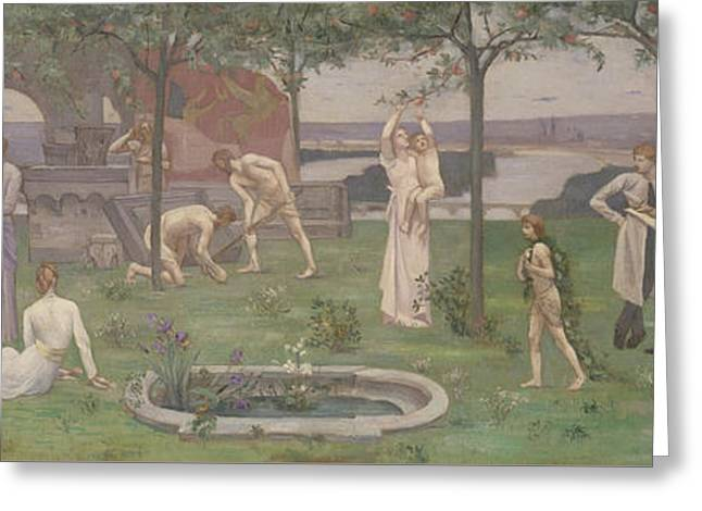 Between Art And Nature Greeting Card by Pierre Puvis de Chavannes