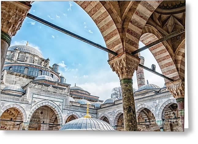 Beyazit Camii Mosque Greeting Card by Antony McAulay