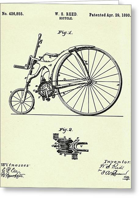 Bicycle- 1890 Greeting Card by Pablo Romero