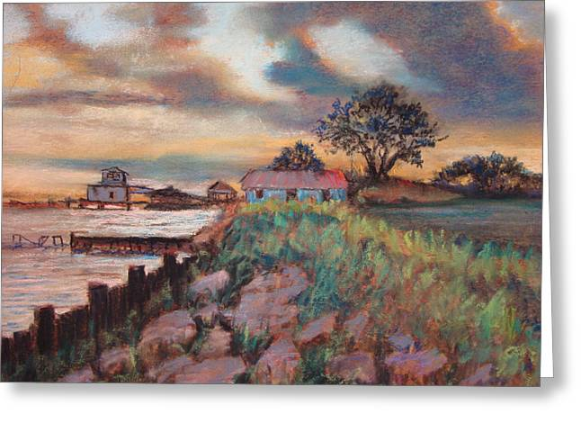 Greeting Card featuring the painting Big Lake by AnnE Dentler