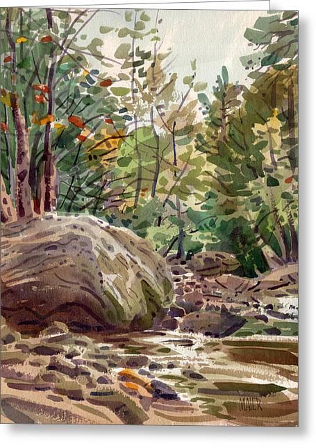 Big Rock At Sope Creek Greeting Card by Donald Maier