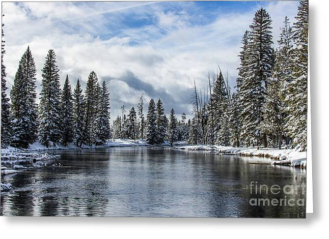Big Springs In Winter Idaho Journey Landscape Photography By Kaylyn Franks Greeting Card