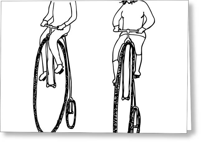 Bike Buddies Greeting Card by Karl Addison