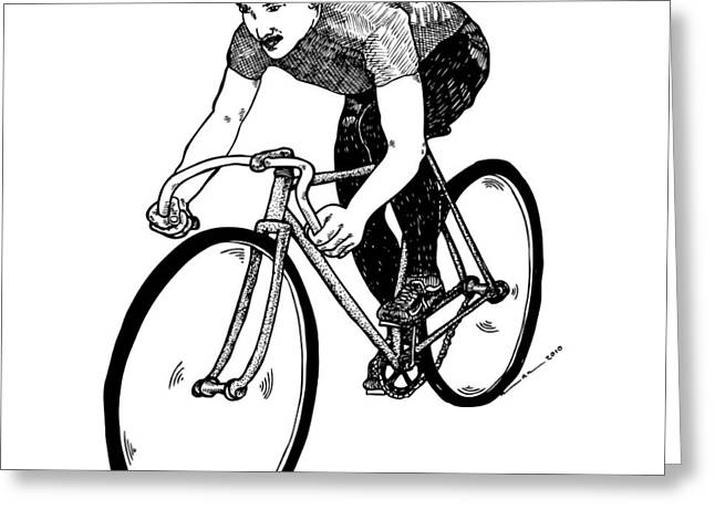 Bike Cyclist Greeting Card by Karl Addison