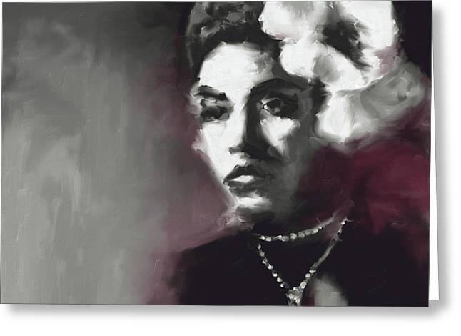 Billie Holiday 549 1 Greeting Card by Mawra Tahreem