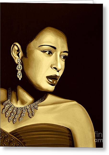 Billie Holiday Greeting Card