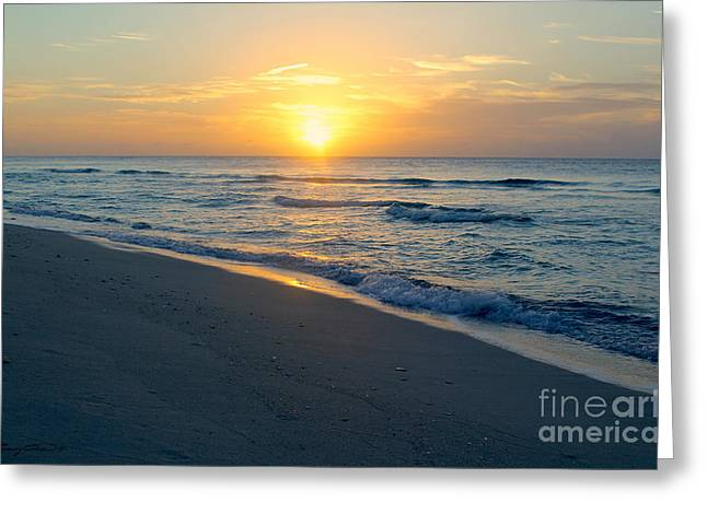 Bimini Beach Greeting Card by Carey Chen
