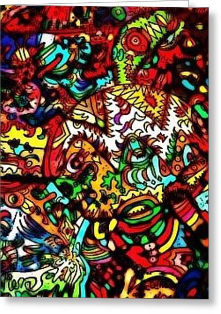 Bipolar Vision Greeting Card by Ronald Fremeth