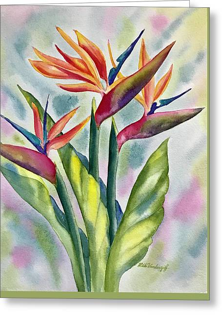 Bird Of Paradise Flowers Greeting Card